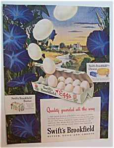 1946 Swift's Brookfield Eggs With A Dozen Of Eggs