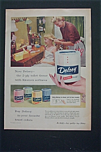 1955 Delsey Toilet Tissue with Mom Fixing Girl's Hair  (Image1)