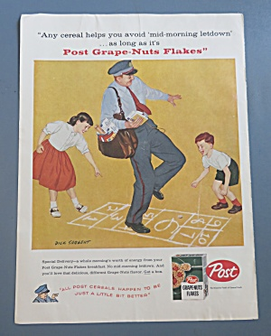 1958 Post Grape Nuts Flakes w/Mailman By Dick Sargent (Image1)