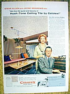 1958 Celotex Ceiling Tile w/Steve Allen & Jayne Meadow (Image1)