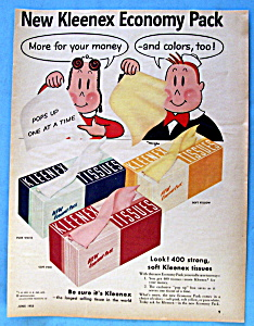 Vintage Ad: 1955 Kleenex Tissue with Little Lulu (Image1)