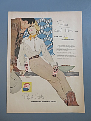 1958 Pepsi Cola with a Woman Talking with a Man (Image1)