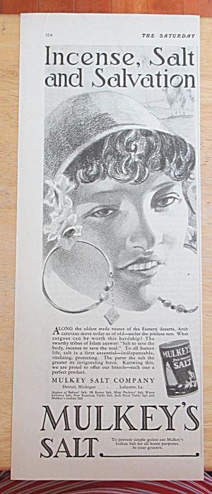 1928 Mulkey's Salt with Lovely Woman's Face  (Image1)