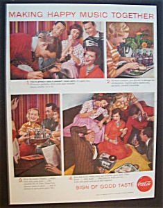 1958 Coca-Cola (Coke) with Group of People Making Music (Image1)