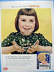 Vintage Ad: 1958 Post Alpha Bits (Image1)