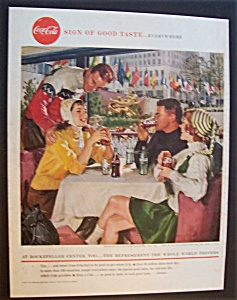 1958 Coca-Cola (Coke) with Couples Sitting by a Rink (Image1)