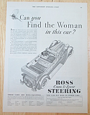 1929 Ross Cam & Lever Steering with Woman Driving Car  (Image1)