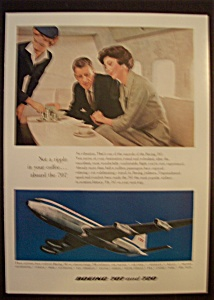 1959 Boeing 707 & 720 With Stewardess Serving People