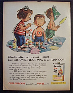 1959 Simoniz Vinyl Floor Wax w/Children as Indians (Image1)