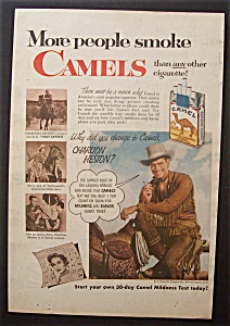 1953 Camel Cigarettes W/charlton Heston (Pony Express)