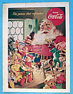 1953 Coca Cola (Coke) with Santa Claus Holding Bottle (Image1)