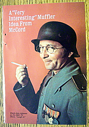 1969 Mccord Muffler With Laugh In's Arte Johnson