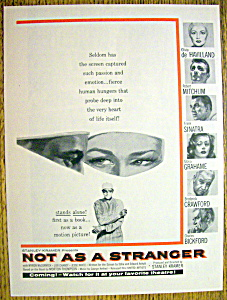 Vintage Ad: 1955 Not As A Stranger