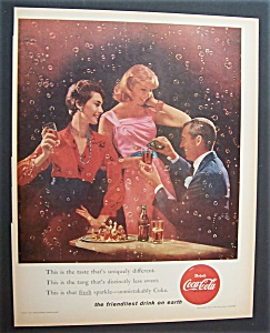 1956 Coca Cola (Coke) With Two Women Talking To A Man