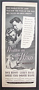 1956 Movie Ad For Written On The Wind