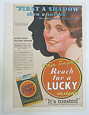 1930 Lucky Strike Cigarettes With Woman's Face