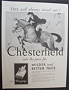 1930 Chesterfield Cigarettes