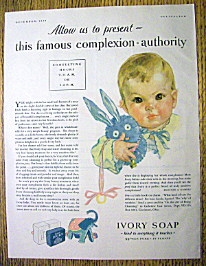 1930 Ivory Soap with Baby Holding a Bunny (Image1)