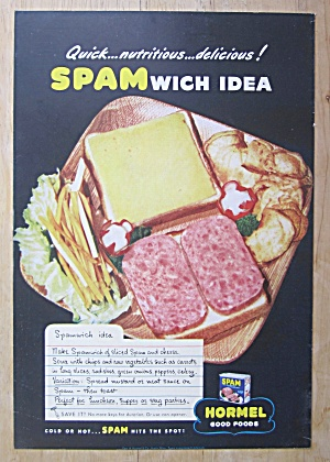 1943 Hormel Spam with Spamwich Idea (Image1)