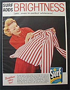 1957 Surf Whitener With Woman Admiring A Washed Shirt