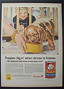 1957 Friskies Dog Food By Douglas Crockwell-Boy & Puppy (Image1)