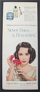 1957 Lustre Creme Shampoo w/ Elizabeth Taylor (Image1)