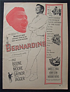 1957 Movie Ad For Bernardine
