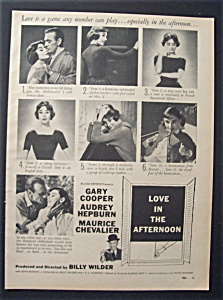 1957 Movie Ad For Love In The Afternoon