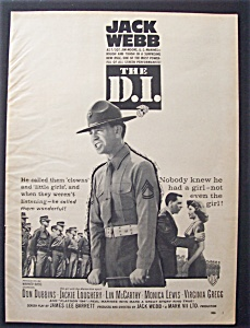 1957 Movie Ad For The D. I.