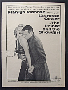 1957 Movie Ad For The Prince & The Showgirl