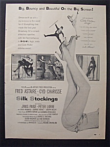 1957 Movie Ad For Silk Stockings