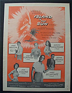 1957 Movie Ad For Island In The Sun