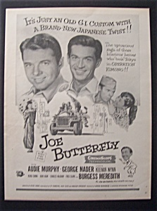 1957 Movie Ad For Joe Butterfly
