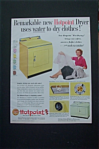 Vintage Ad: 1955 Hotpoint Dryer With Harriet Nelson