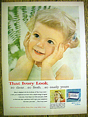 1958 Ivory Soap with Little Girl Holding Her Face (Image1)