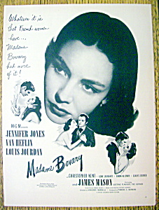 1949 Madame Bovary With Jennifer Jones