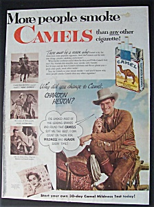 1953 Camel Cigarettes With Charlton Heston