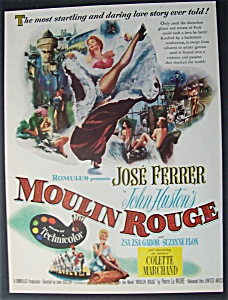 1953 Movie Ad For Moulin Rouge