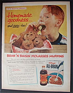 1958 Kellogg's All Bran Cereal with Boy Eating A Muffin (Image1)