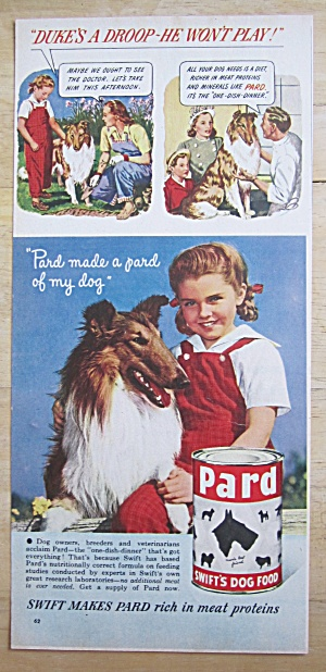 1948 Pard Dog Food with Little Girl & Her Dog  (Image1)