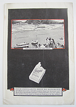1926 Chesterfield Cigarette w/Yale Harvard Boat Race  (Image1)