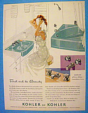 1958 Kohler of Kohler with Woman Drying Hair With Towel (Image1)