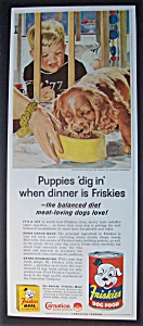 1957 Friskies Dog Food W/baby & Dog/douglas Crockwell
