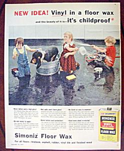Vintage Ad: 1957 Simoniz Floor Wax (Image1)