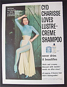 1957 Lustre Creme Shampoo With Cyd Charisse