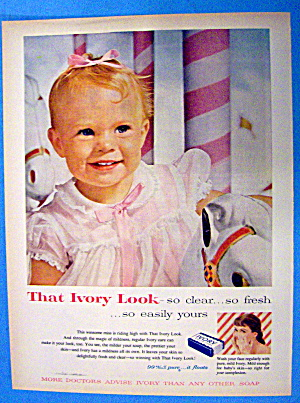 1957 Ivory Snow with Little Baby Girl Smiling (Image1)