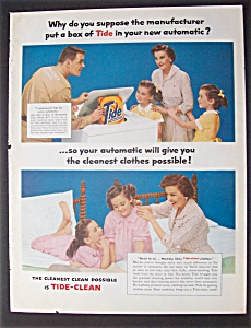 1957 Automatic Washer w/Service Man & Tide Detergent (Image1)
