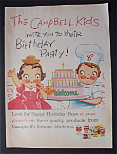 Vintage Ad: 1957 Campbell's Soup w/Campbell Kids (Image1)
