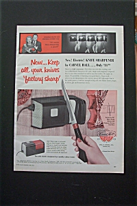 Vintage Ad: 1955 Carvel Hall Knife Sharpener W/ V. Mayo