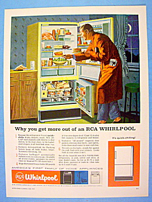 1959 RCA Whirlpool Refrigerator with Man Having A Snack (Image1)